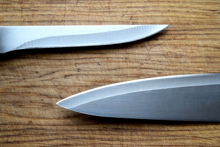 sharp sushi steel knives